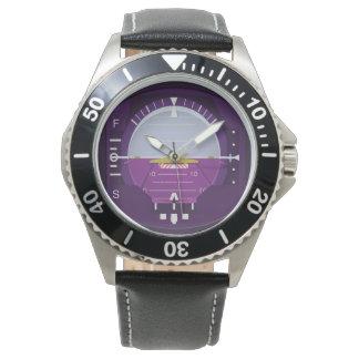 künstlicher Horizont Armbanduhr