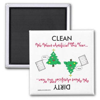 Künstlicher WeihnachtsCartoon-Spülmaschinen-Magnet Quadratischer Magnet