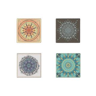Kunstmandala-Stein-Magnet-Zusammenstellungs-Set 3 Stein-Magnet