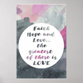 Kunstplakatdruck der Glauben-Hoffnung u. der Liebe Poster
