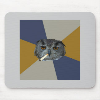 Kunststudent-Eulen-Ratetier Meme Mousepads