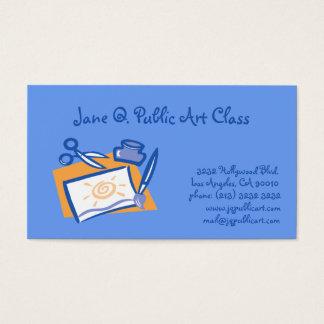 Kunstunterricht-Künstler-Lehrer Visitenkarte