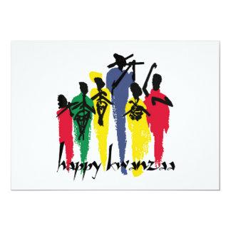 Kunstvolles Feier-Kwanzaa-Feiertags-Party lädt ein Karte