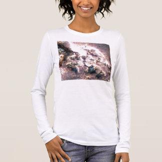 Kupfer auf Rosa Langarm T-Shirt