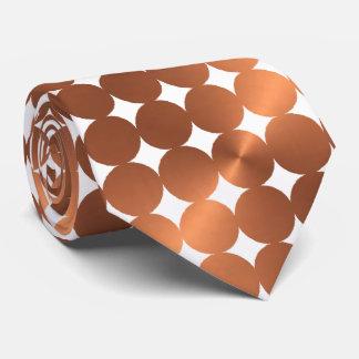 Kupfer-Blick moderner Punktentwurf Bedruckte Krawatten