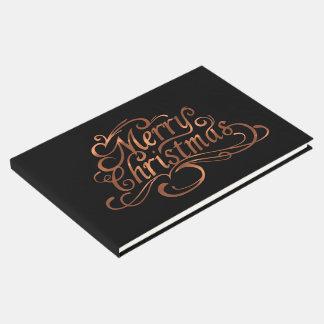 Kupfer-Blick Skriptentwurf froher Weihnachten Gästebuch