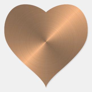 Kupfer Herz-Aufkleber