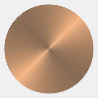 Kupfer Runder Aufkleber