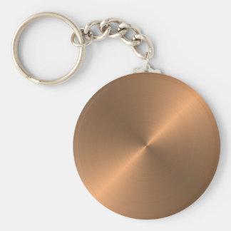 Kupfer Standard Runder Schlüsselanhänger
