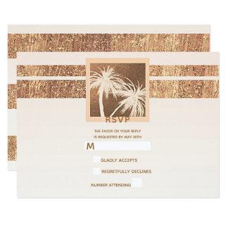 Kupfer-u. Creme-tropisches Palmen modernes UAWG Karte
