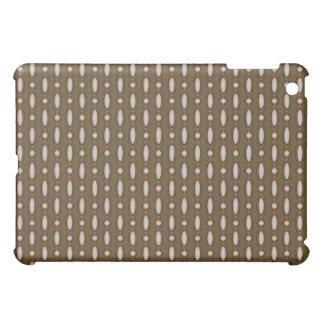 Kupfer u. kakifarbiger wulstiger Vorhang iPad Mini Hülle