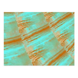 Kupfer-und Aqua-Kurven-Entwurf Postkarte