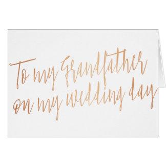 """Kupfer """"zu meinem Großvater mein Hochzeitstag """" Karte"""