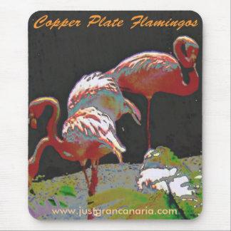 Kupferblech-Flamingos Mousepad