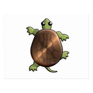 Kupferblech-Schildkröte Postkarte