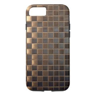 Kupferne Aluminium-Effekt Fliese iPhone 8/7 Hülle