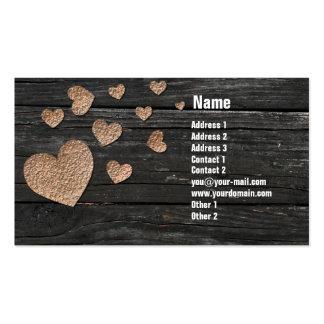 Kupferne Herz-Visitenkarten Visitenkarten