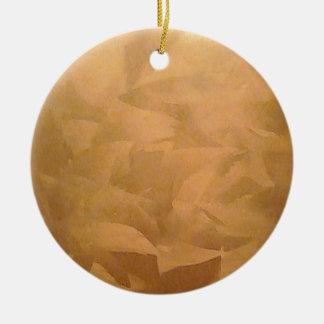 Kupferne metallische Hand gebürstet Keramik Ornament
