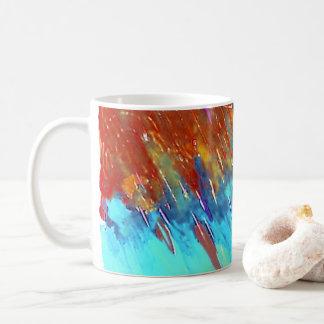Kupferne Patina-Landschaft Kaffeetasse