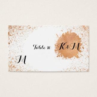 Kupferne Spray-Hochzeits-Empfangs-Tabellen-Zusätze Visitenkarte