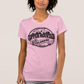 Kupferner Gebirgsaltes Kreis-Schwarzes T-Shirt