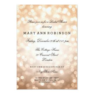 Kupferner Glitter beleuchtet elegantes Brautparty 12,7 X 17,8 Cm Einladungskarte
