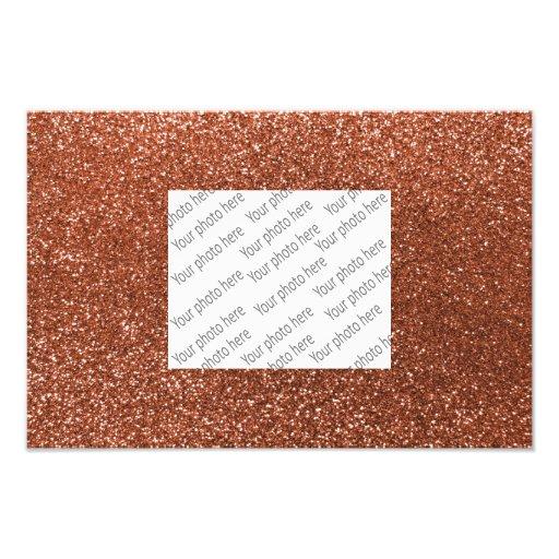 Kupferner Glitter Photodruck