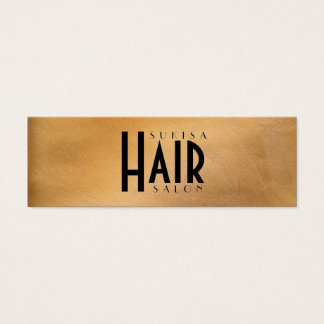 Kupferner metallischer Friseursalon-dünne Mini Visitenkarte