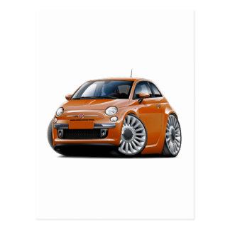 Kupfernes Auto Fiats 500 Postkarte
