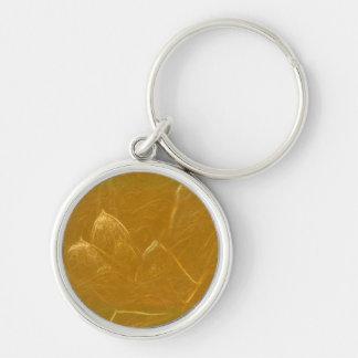 Kupfernes Blatt des Goldn:  Lotus gravierte Schlüsselanhänger