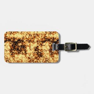 Kupfernes Mosaik einfache Identifikation Gepäckanhänger