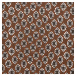 Kupfernes überprüftes Muster Browns Nouveau Stoff
