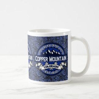 Kupfernes verziertes Blau Kaffeetasse