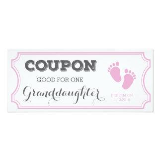 Kupon für eine Enkelin-Baby-Mitteilung 10,2 X 23,5 Cm Einladungskarte