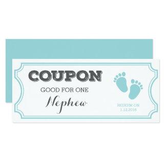 Kupon für eine Neffe-Baby-Mitteilung Karte
