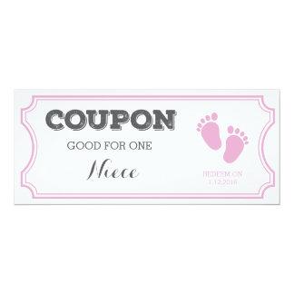 Kupon für eine Nichten-Baby-Mitteilung 10,2 X 23,5 Cm Einladungskarte