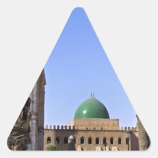 Kuppel der Sultan-Ali-Moschee in Kairo Dreieckiger Aufkleber