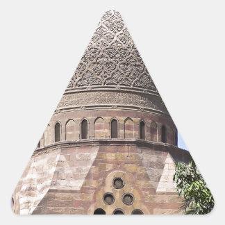 Kuppel einer Moschee in Kairo Dreieckiger Aufkleber