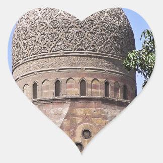 Kuppel einer Moschee in Kairo Herz-Aufkleber