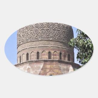Kuppel einer Moschee in Kairo Ovaler Aufkleber
