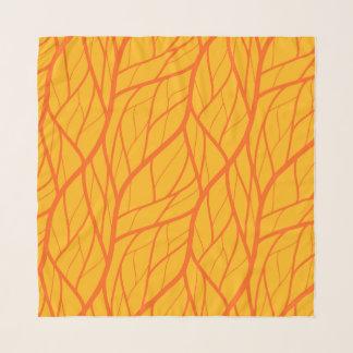 Kürbis-Blätter Schal