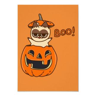 Kürbis Cat Boo Karte