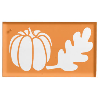 Kürbis-Flecken im orange Tabellen-Karten-Stand