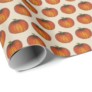 Kürbis-Flecken-orange Ernte-Gewürz-Erntedank Geschenkpapier