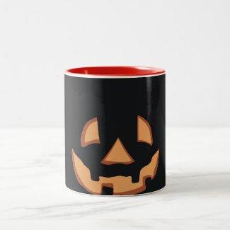 Kürbis für Halloween Tasse