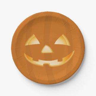Kürbis-Gesichts-Halloween-Party-Papierplatte Pappteller