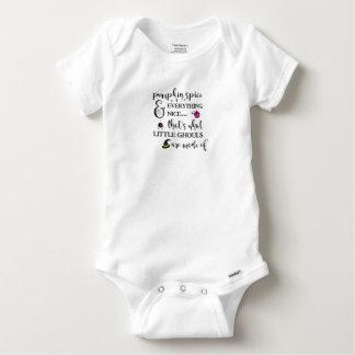 Kürbis-Gewürz-Baby Gerber Baumwollbodysuit Baby Strampler