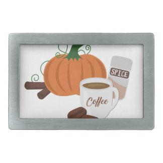 Kürbis-Gewürz-Kaffee Rechteckige Gürtelschnallen