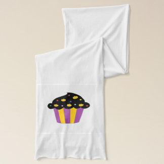 Kürbis-Halloween-kleiner Kuchen Schal