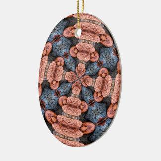 Kürbis-Kaleidoskop Keramik Ornament